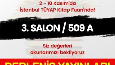 Derleniş Yayınları, 38. Uluslararası İstanbul Kitap Fuarı'nda
